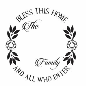 Bless This Home Monogram vector | Bless This Home Vector Image, SVG, PSD, PNG, EPS, Ai Format | Vector Graphic Arts Downloads